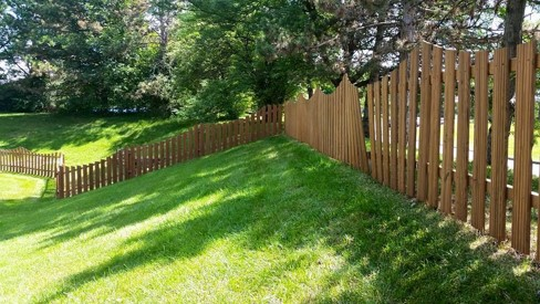 after yard fencing power washing