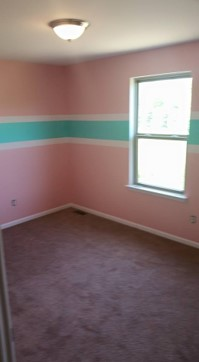 before bedroom painted pink and blue